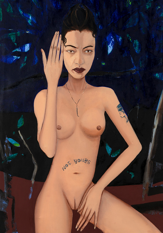 "Apolonia Sokol, ""Suzanne au bain"" (2019). Courtesy The Pill."