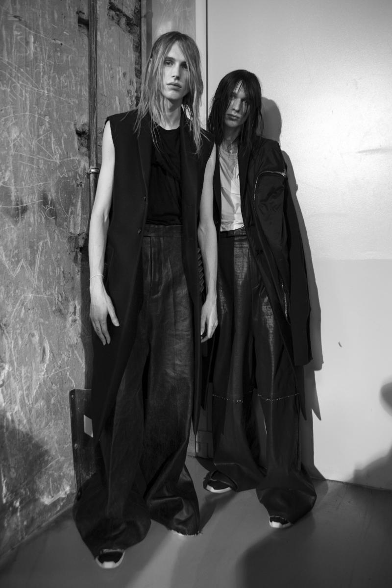 Backstage: Rick Owens fall-winter 2017 show seen by Mehdi Mendas