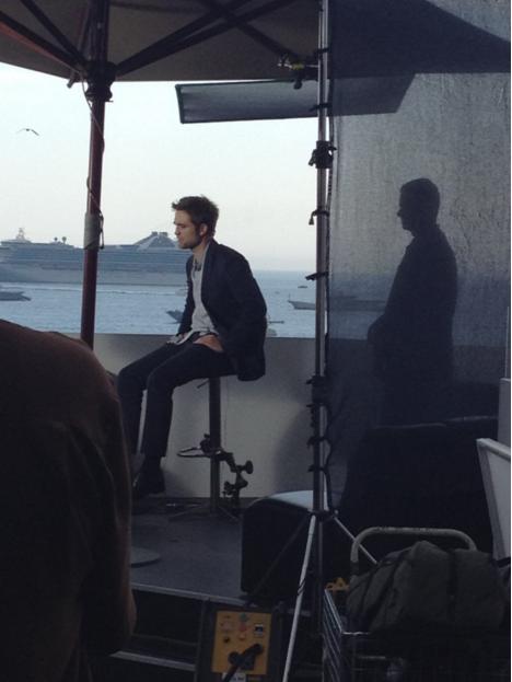 Robert Pattinson lors du Press Junket du film Cosmopolis sur la Terrasse by Albane