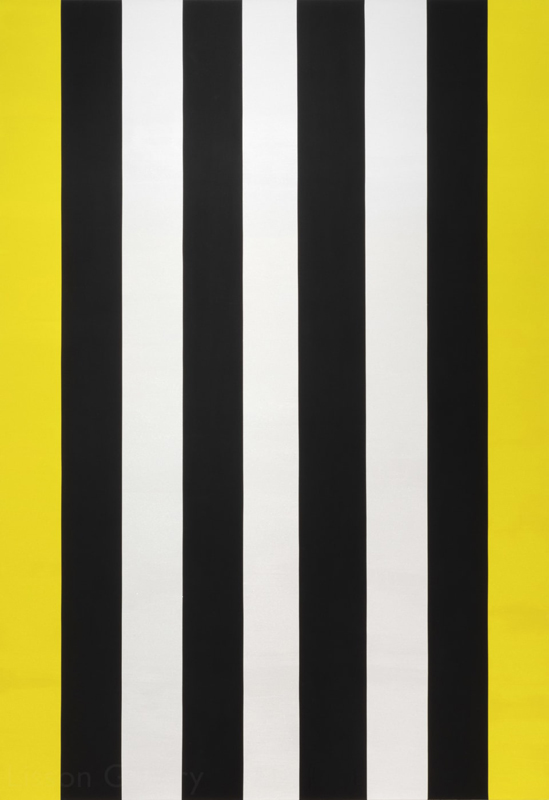 "Lisson Gallery : Mary Corse, ""Untitled (Yellow/Black/White Band Beveled)"" (2014). Art Basel Hong Kong Online Viewing Room"