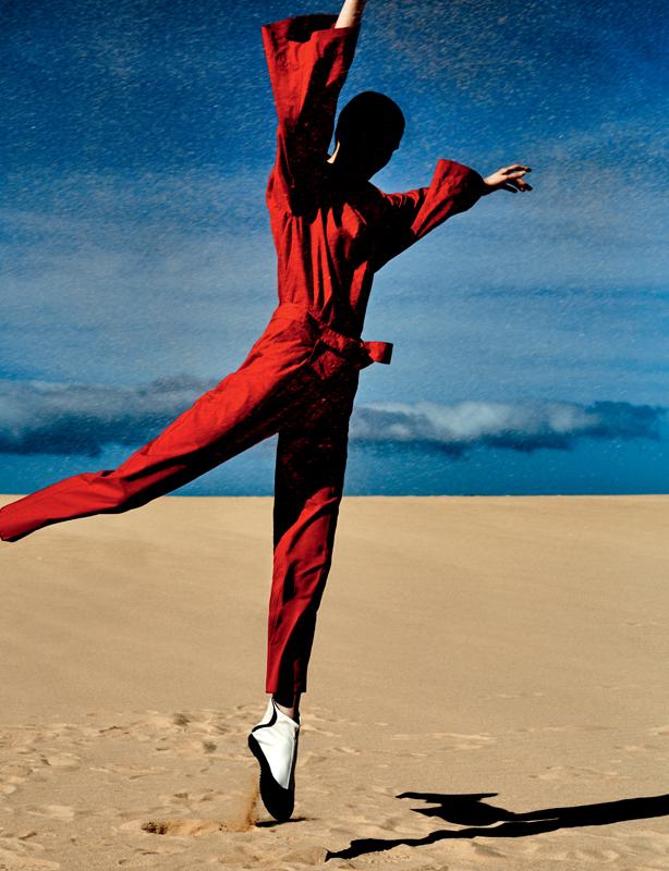 Cotton and silk slip, KRIZIA. Sneakers, Y'S.