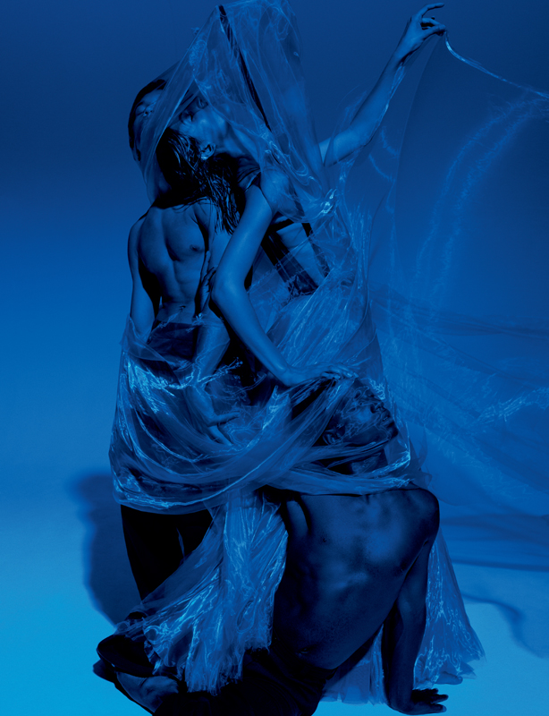 """""""The Bride"""", silk tulle skirt and its veil of smoke in japanese organza, GAULTIER PARIS."""