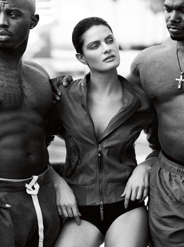 Leather jacket, PARAJUMPERS. Panties, INTIMISSIMI.