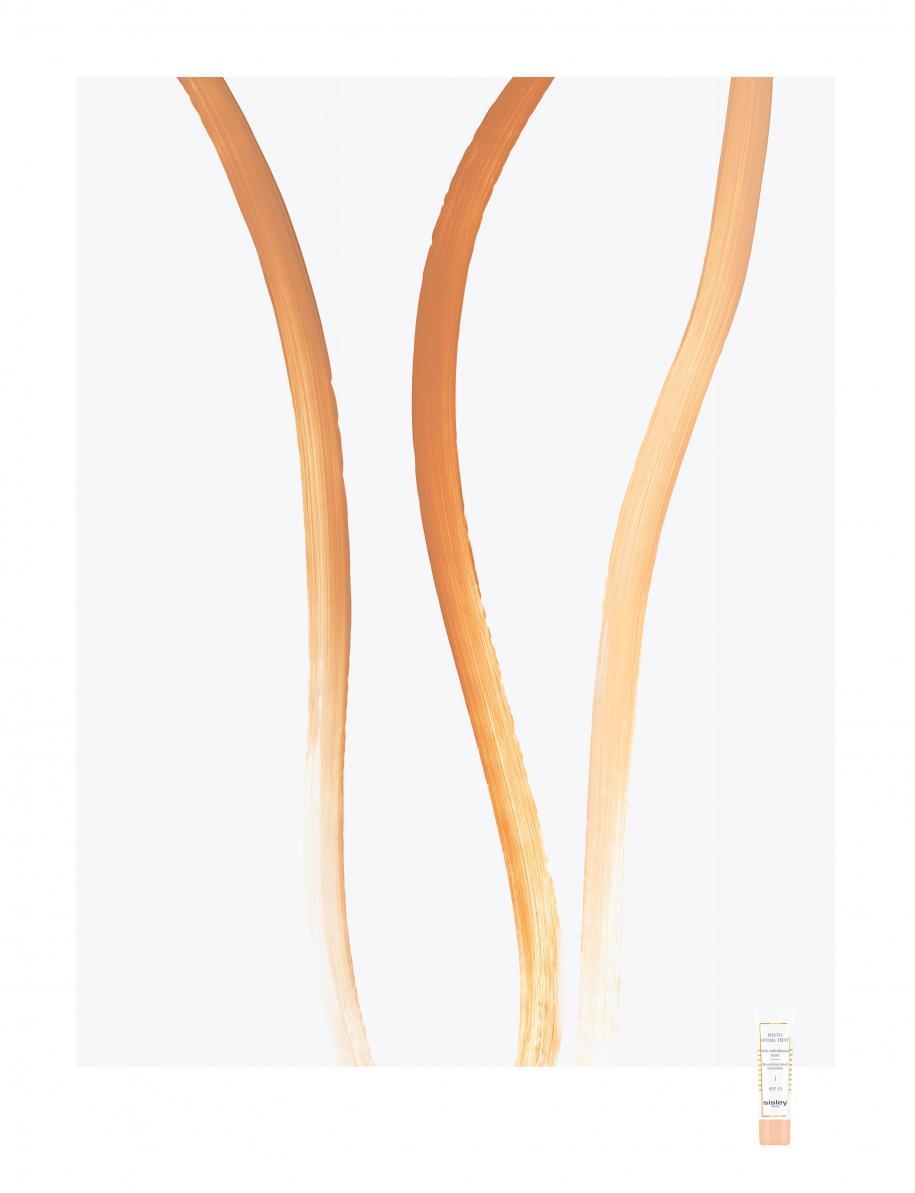 """Les nuances medium 2, golden 3 et light 1, """"Phyto Hydra Teint"""", SISLEY."""