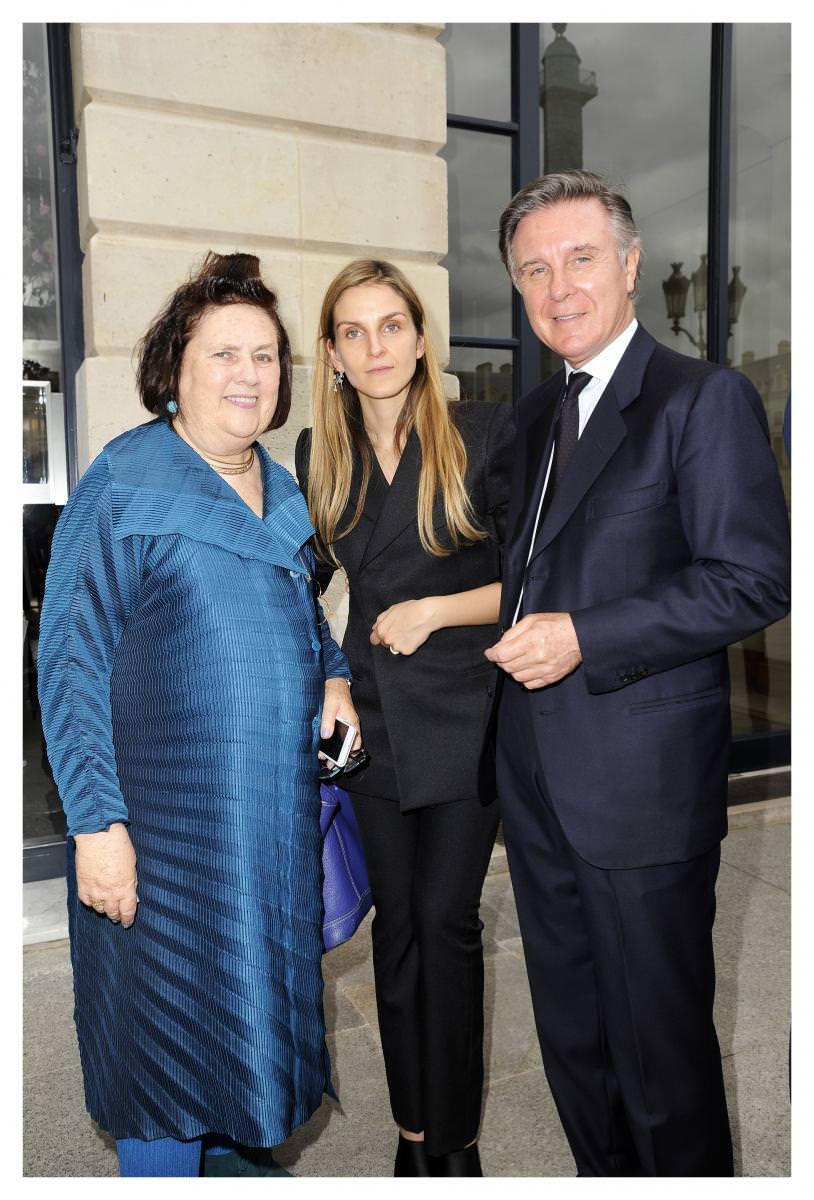 Suzy Menkes, Gaia Repossi etAlberto Repossi. Photo : Stéphane Feugère.