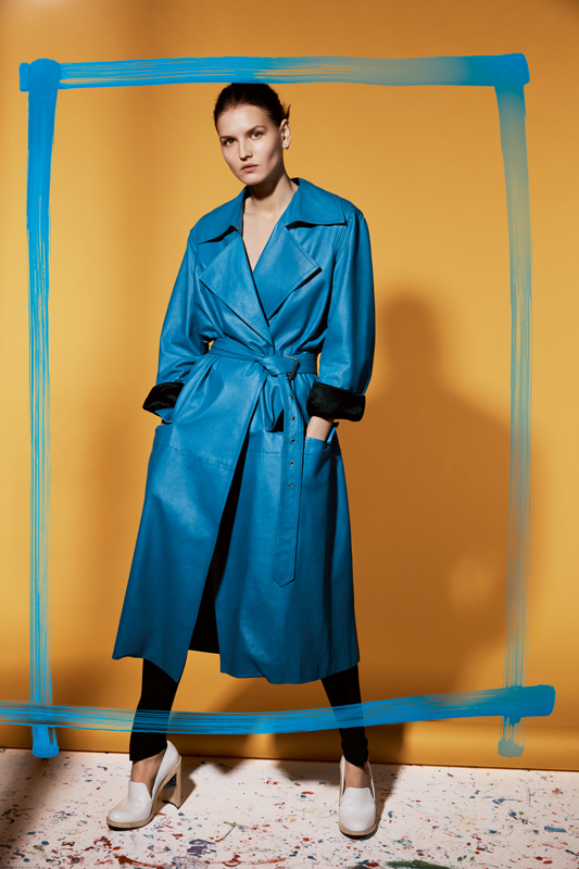 Coat and legging, CÉLINE.Shoes, ESTEBAN CORTAZAR.