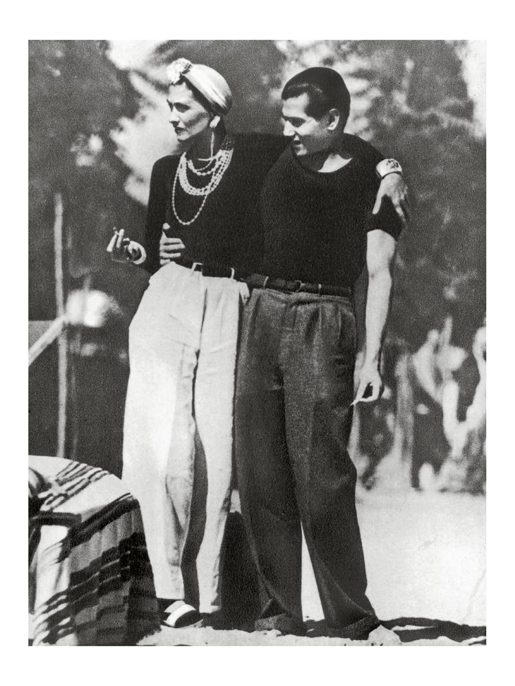 Gabrielle Chanel et Serge Lifar, 1937. © Jean Moral