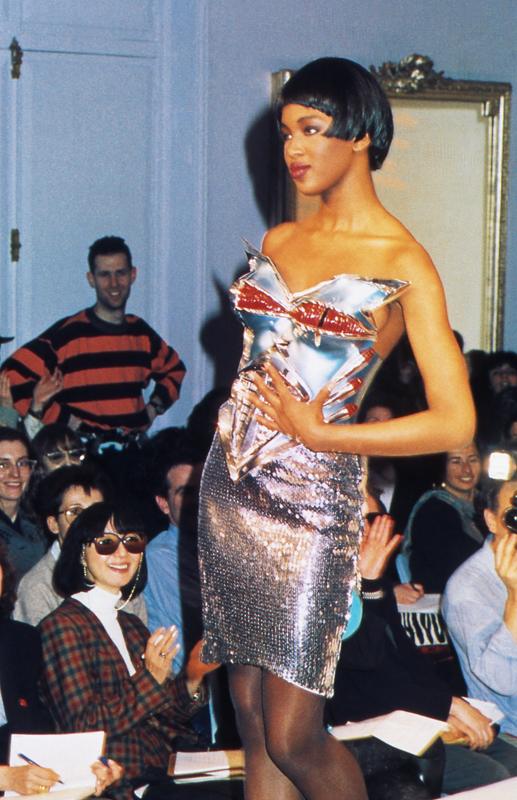 Thierry Mugler, collection prêt-à-porter automne-hiver1989-1990. Photo :Patrice Stable.