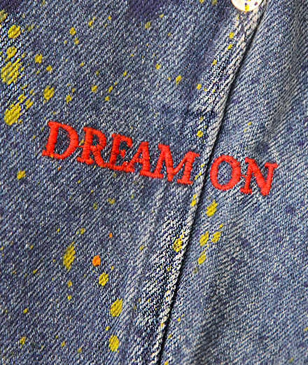 """Jean brodé """"Dream On"""", collectionINTERACTION #1, A.P.C. x Kid Cudi"""