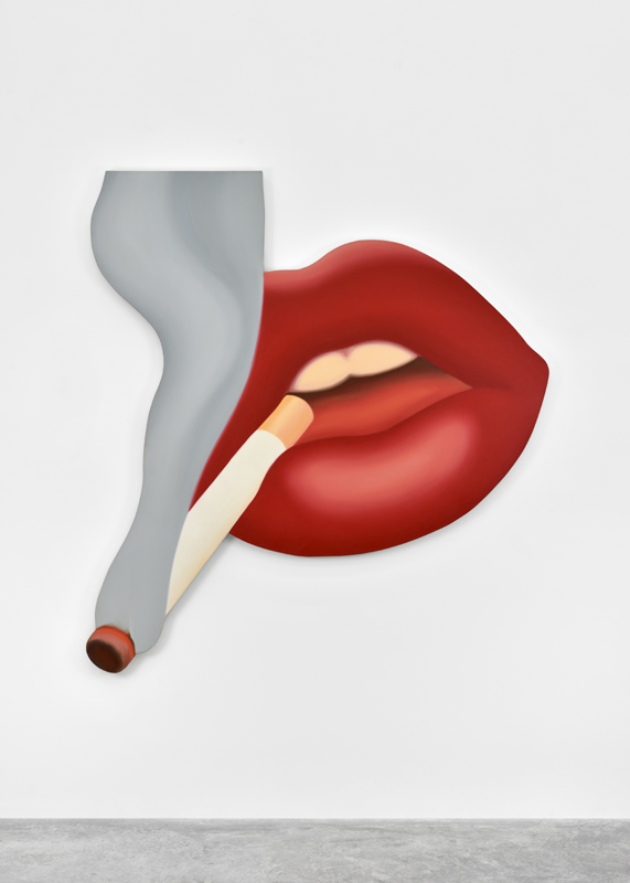 """Smoker #3"" (1968). Huile sur toile. 181,6 x 170,2 cm."