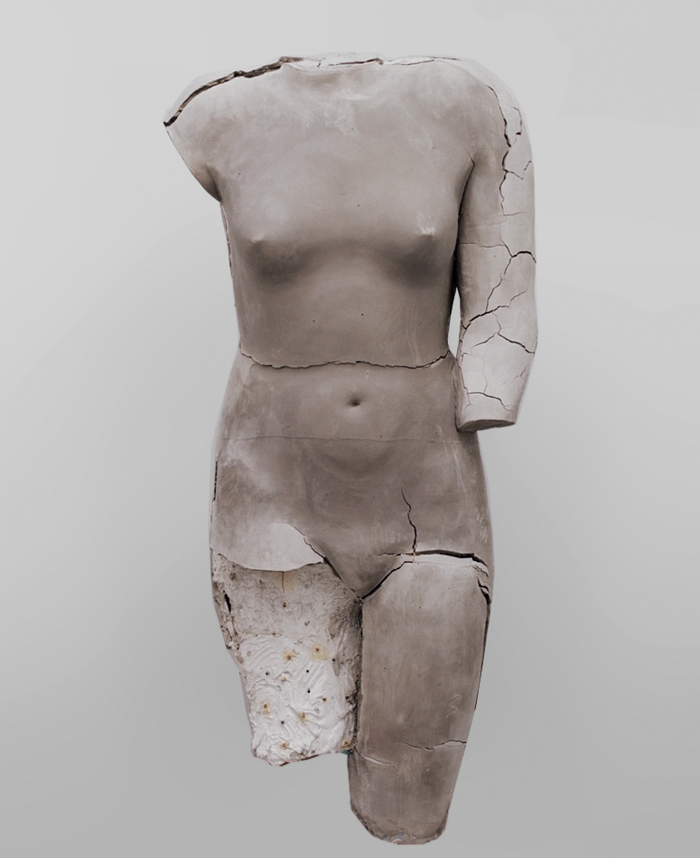 untitled (gray body), 2017, ceramic © Vanessa Beecroft, 2017.