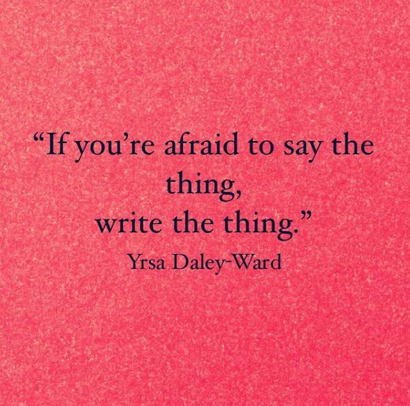 Des citations issues du compte Instagram deYrsa Daley-Ward.