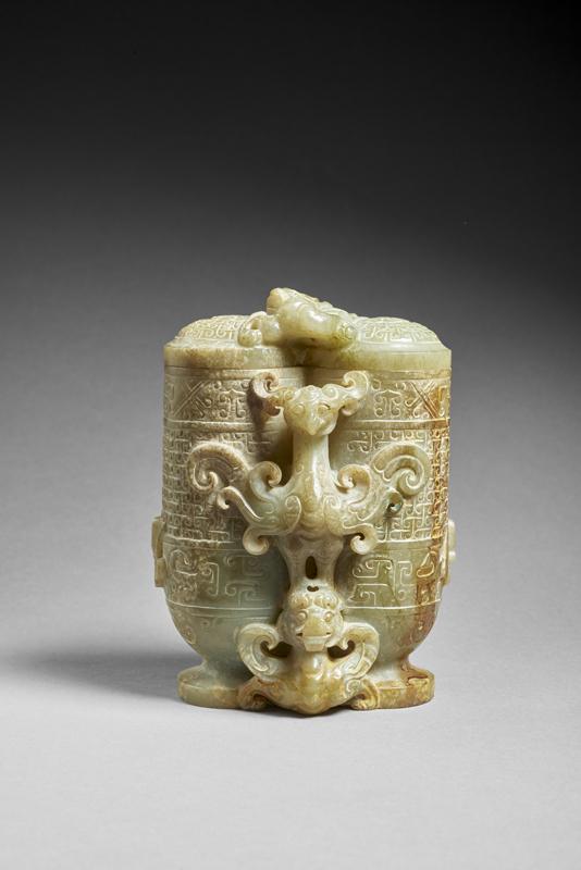 Vase à couvercle Chine, Dynastie Han, Ier - IIème siècle ap. J.-C., collection Sam et Myrna Mayers © Thierry Ollivier