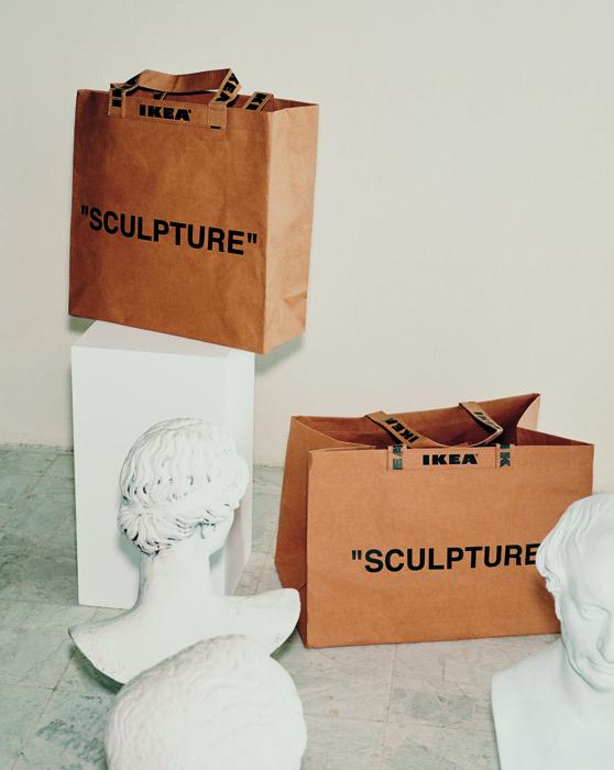 """Sacs de la collection """"Markerad"""", de Ikea, en collaboration avec Virgil Abloh, édition limitée."""