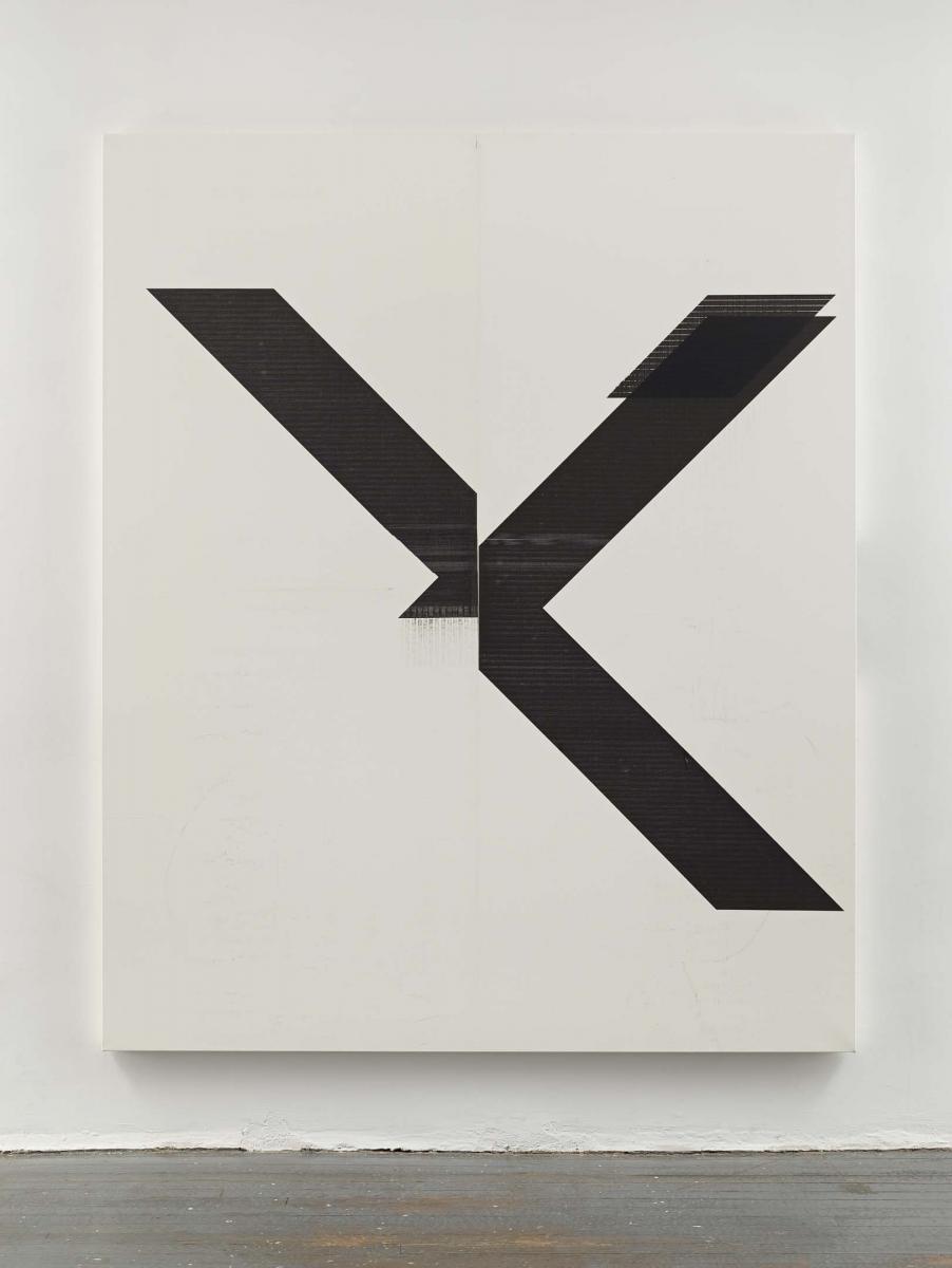 """Wade Guyton, """"Sans titre""""(2007). Impression jet d'encre sur lin, 213,4 x175,3 cm. Photo : Ron Amstutz. Wade Guyton"""