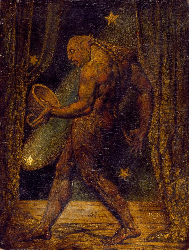 "William Blake, ""The Ghost of a Flea"" (c.1819). Graphite sur papier, 200 x 153 mm. Collection privée."