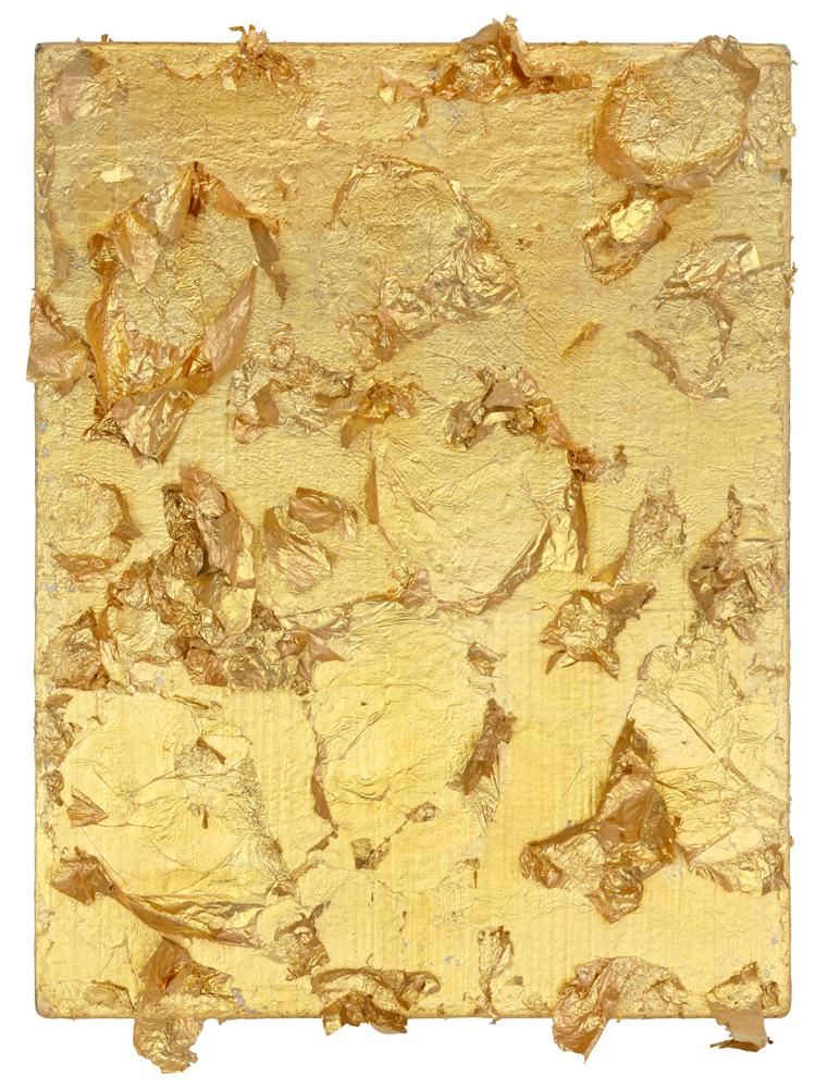 Yves KLein,Monogold sans titre (MG 45)(1959), Feuilles d'or, 18,5 x 14,2 cm.© Succession Yves Klein /ADAGP Paris, 2019