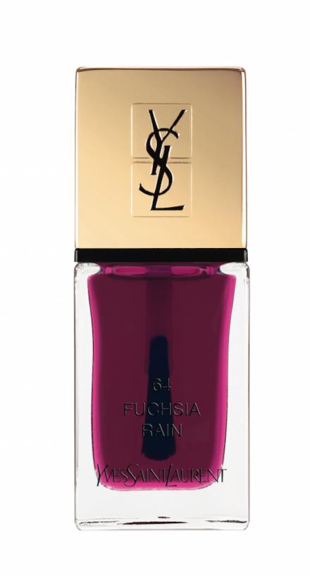"Blueberry for the nails""La Laque Couture Pop Water n°63 et n°64 fuchsia rain"", YVES SAINT LAURENT."