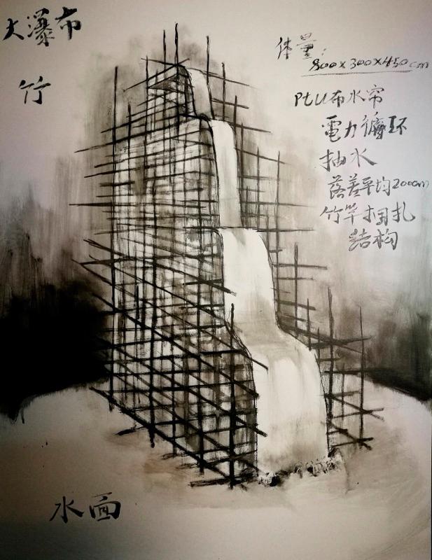 Zhao Mi sur le parvis de l'église Saint-Germain