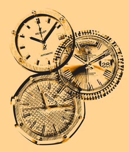 Audemars-Piguet, Hublot, Rolex: a selection of watches