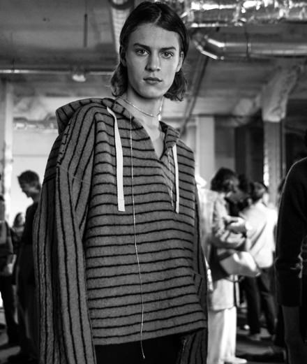 Backstage : Acne Studios men fall-winter 2018-2019 collection seen by Mehdi Mendas