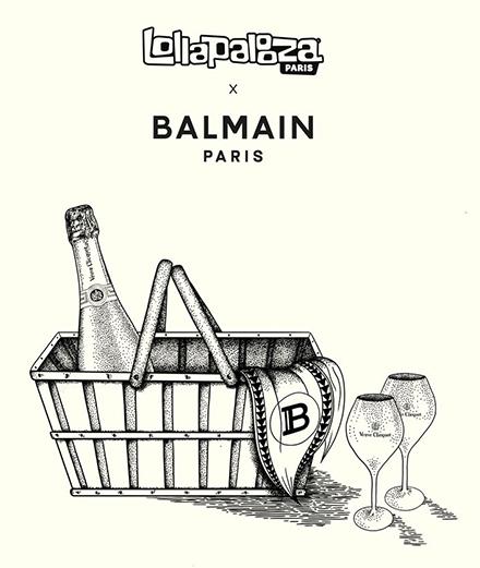 Lollapalooza devient un pique-nique géant avec Balmain et Jean Imbert