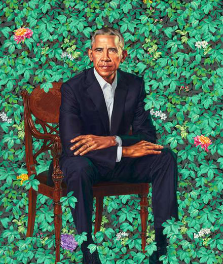 Who are Kehinde Wiley and Amy Sherald, portraitists of the Obamas?