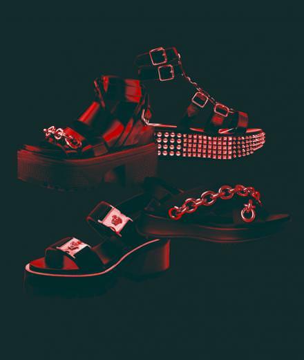 Les sandales punk de Burberry, Louis Vuitton, Philipp Plein et Versace
