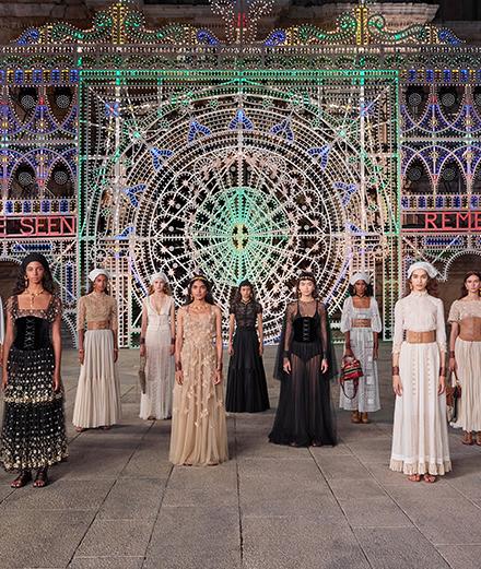Le défilé Dior croisière 2021 en Italie