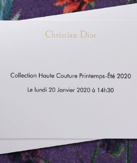 Vidéo : le défilé Dior haute couture printemps-été 2020 en direct