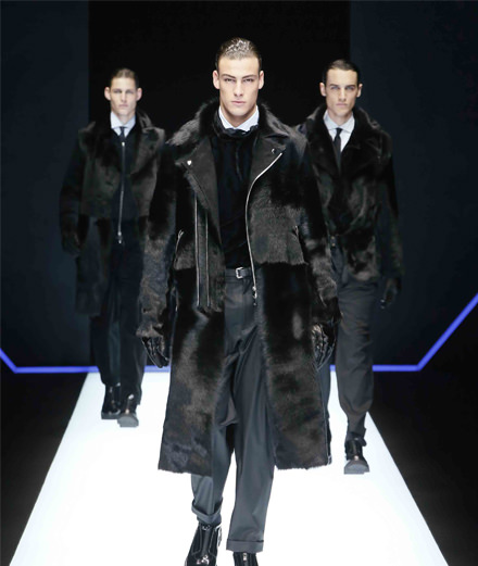 Emporio Armani men fall-winter 2018 fashion show