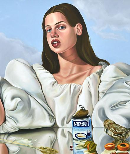 Peintures et décadence : la nouvelle it-girl de l'art Chloé Wise à la galerie Almine Reich