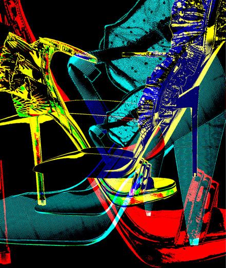 Les escarpins volants par Yves Saint Laurent, Jimmy Choo et Stella Luna