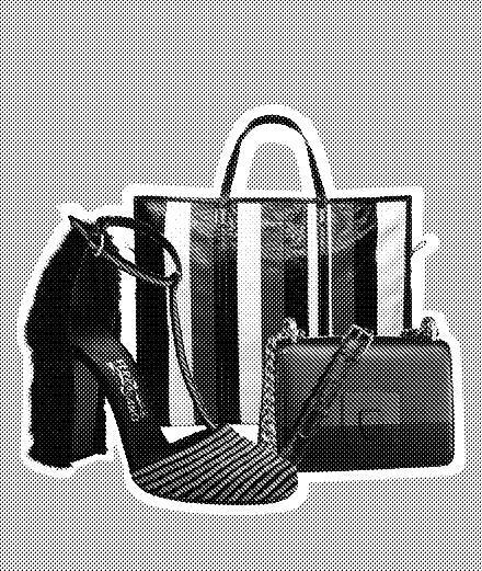 Dior, Salvatore Ferragamo, Balenciaga: our selection of black-and-blue striped accessories