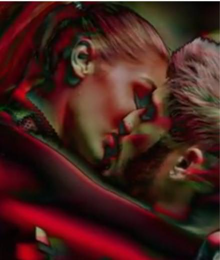 "Gigi Hadid and Zayn Malik in love in the singer's new music video ""Pillowtalk"""
