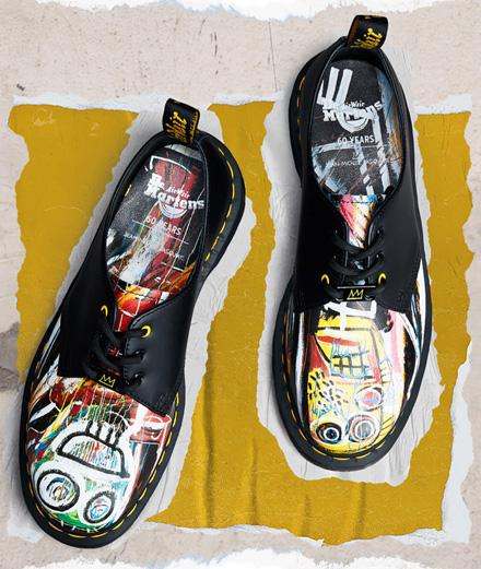 Dr. Martens invite les œuvres de Basquiat sur une nouvelle collection de chaussures