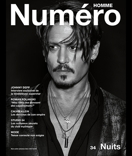 Exclusive: Johnny Depp by Jean-Baptiste Mondino on the front cover of Numéro Homme