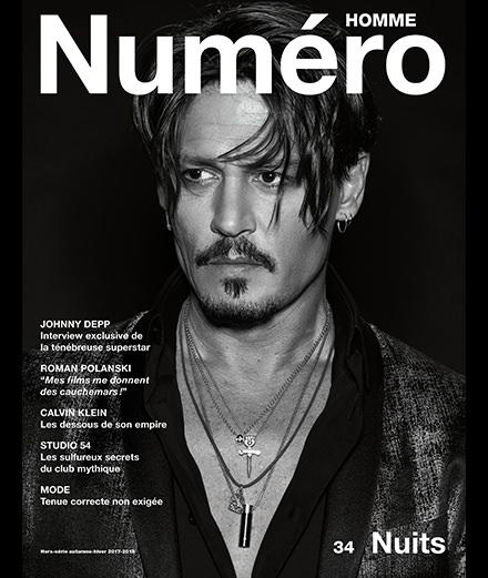 Exclusif : Johnny Depp par Jean-Baptiste Mondino en couverture du nouveau Numéro Homme