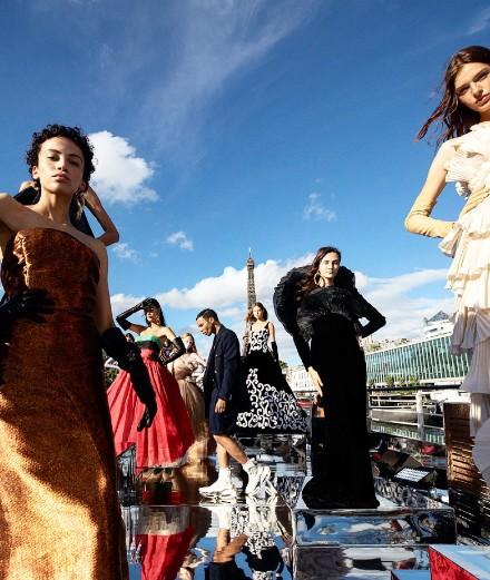 Balmain sur Seine show: TikTok and vintage couture