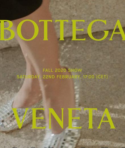 En direct : le défilé Bottega Veneta automne-hiver 2020-2021