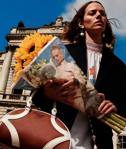 Prada fait sa campagne chez les fleuristes