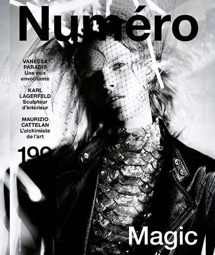 Discover the contents of December 2018's Numéro with Vanessa Paradis, Karl Lagerfeld, Maurizio Cattelan...