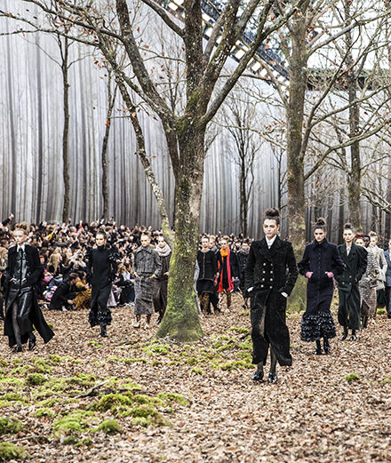 Chanel fall-winter 2018-2019 fashion show seen by Mehdi Mendas