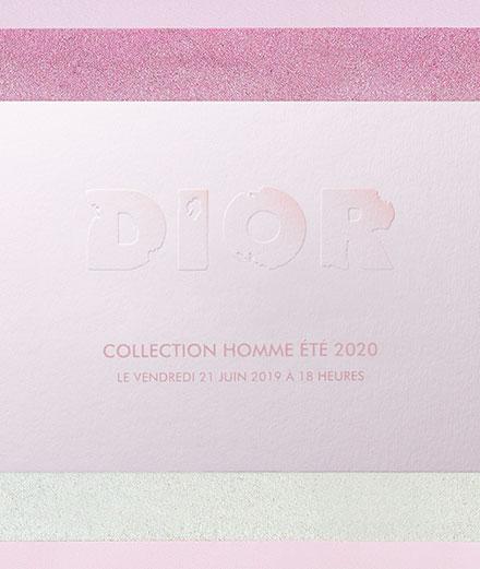 Exclusif : vivez le défilé Dior Collection Homme printemps-été 2020 en direct