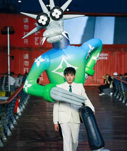 Le défilé Louis Vuitton homme printemps-été 2021 à Shanghai