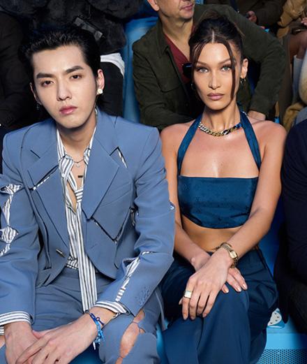 Bella Hadid et Kris Wu au défilé Louis Vuitton automne-hiver 2020-2021