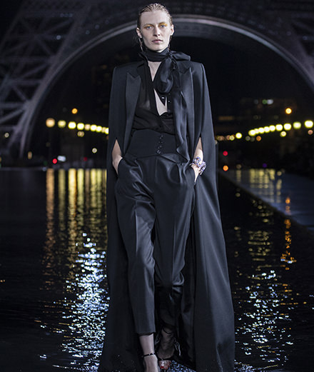 The runway on water of Saint Laurent Spring-Summer 2019