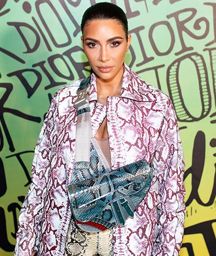 Kim Kardashian et David Beckham au défilé Dior à Miami