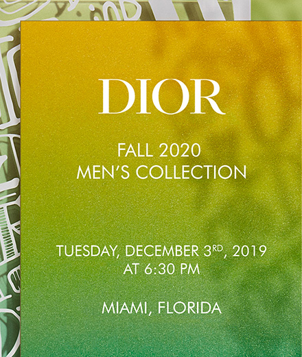 Video :  Dior Men's Fall 2020 fashion show in Miami