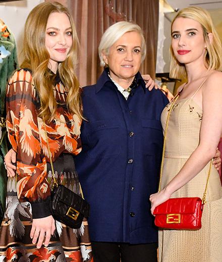 À New York, Fendi célèbre son sac Baguette avec Emma Roberts et Amanda Seyfried
